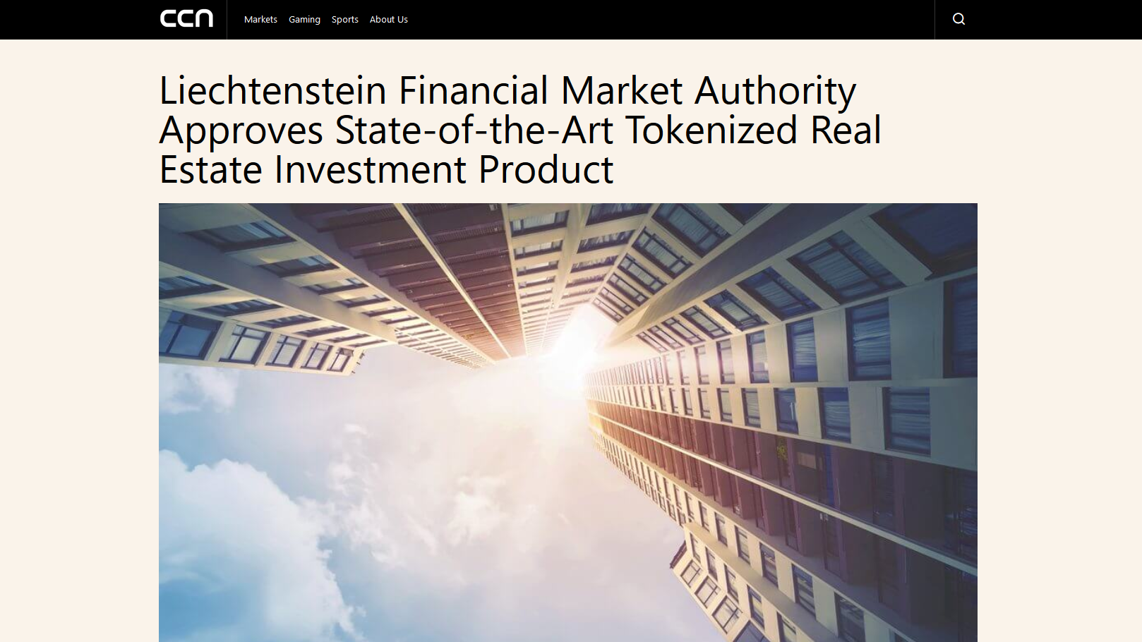 "Article on the ""ccn.com"" platform of 15 July 2019"