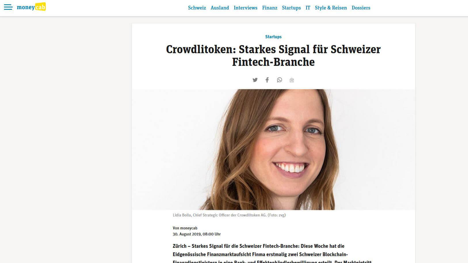 Starkes Signal für Schweizer Fintech-Branche