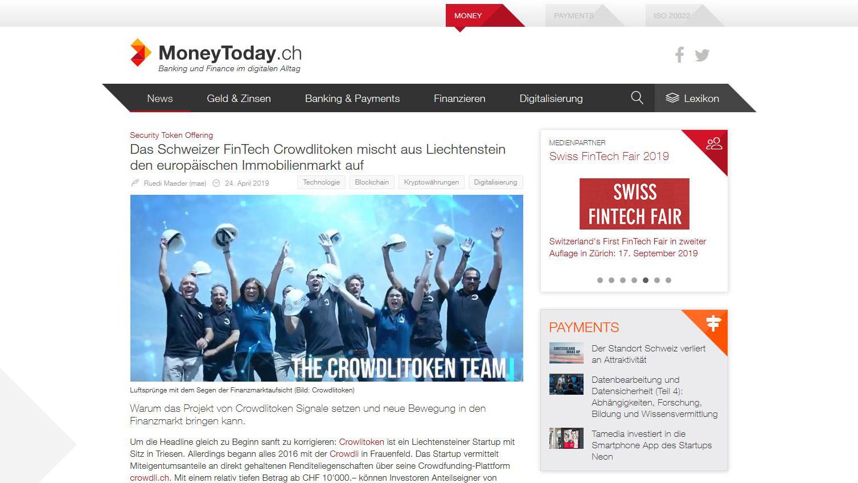 Read more about the article Das Schweizer FinTech Crowdlitoken mischt aus Liechtenstein den europäischen Immobilienmarkt auf