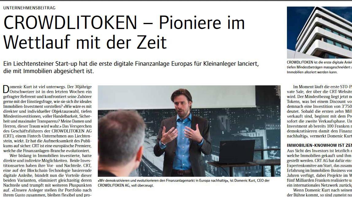 """Sonntags Zeitung of 30 June 2019, supplement """"Wirtschaftsguide"""""""